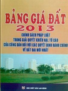 BẢNG GIÁ ĐẤT 2013