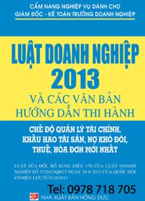 Cẩm Nang Nghiệp Vụ Dành Cho Giám Đốc,  Kế Toán Trưởng  Doanh Nghiệp – LUẬT DOANH NGHIỆP  2013